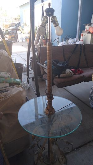 Antique standing table lamp for Sale in DEVORE HGHTS, CA
