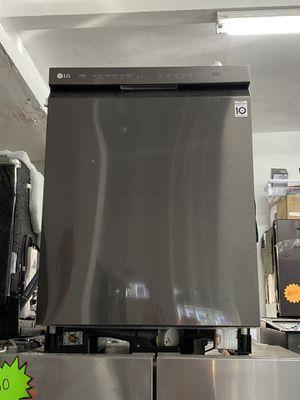 Lg black stainless steel dishwasher open box for Sale in Costa Mesa, CA