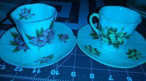 Fine bone china shelley England Oleander antique cup plate vintage glassware for Sale in Dayton, OH