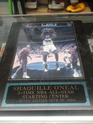 Shaquille Shaq O'Neal signed autographed picture with C of A for Sale in Charlotte, NC