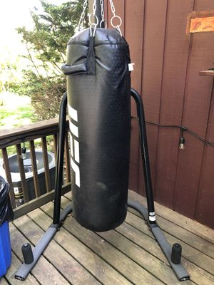 UFC punching bag and stand good condition for Sale in Providence, RI