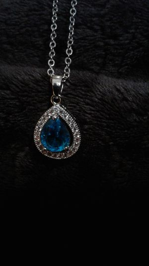 Blue topaz with white sapphire's silver chain for Sale in Lexington, SC