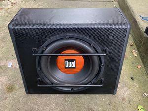 """Dual 10"""" speaker amplified 300w for Sale in Grayslake, IL"""