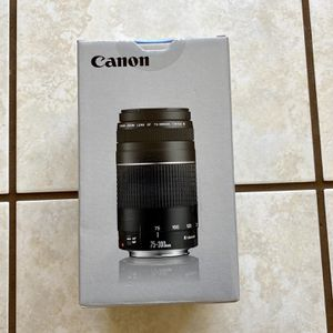 Brand New - Canon EF 75-300mm f/4-5.6 Telephoto Zoom Camera Lens for Sale in Diamond Bar, CA