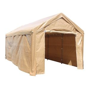 Outdoor Event Carport Garage Canopy Tent Shelter Storage with Sidewalls 10 x 20 x 8.5 Feet Beige for Sale in Kent, WA