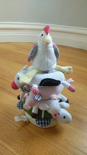 Pottery Barn Kids Barnyard Animals Plush Ring Toss Toy for Sale in Chicago, IL