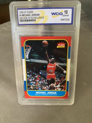 1996-97 Michael Jordan decade of excellence Gem-Mt 10 for Sale in Raynham, MA