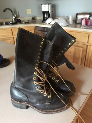 Leather lineman boots women's size 7.5,great boots if you ride motorcycle. for Sale in Perham, MN