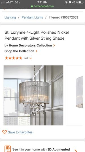 NEW!!! Home Decorators Collection St Lorynne 4 light pendant light for Sale in Flossmoor, IL