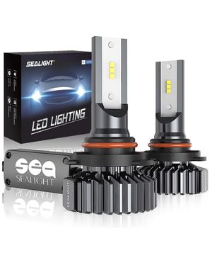SEALIGHT 9005/HB3 LED High Beam Headlight Bulbs Conversion Kit Plug and Play, 9145/H10 Fog Light Bulbs 6500lm 6000K White for Sale in Boston, MA