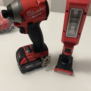 Milwaukee M18 Impact Drive Gen3 + Battery 5.0ah + M18 Led Stick Light Everything New! for Sale in Miami, FL