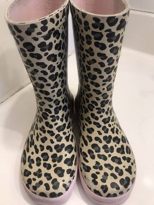 Little Girls Leopard Rain Boots size 11.5 H&M for Sale in Westminster, CA