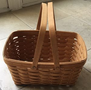 Longaberger 1994 basket with handles for Sale in Dublin, CA