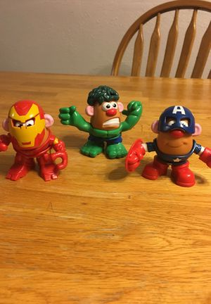 Marvel - Avengers - set of 3 Potato Head for Sale in Thornton, CO