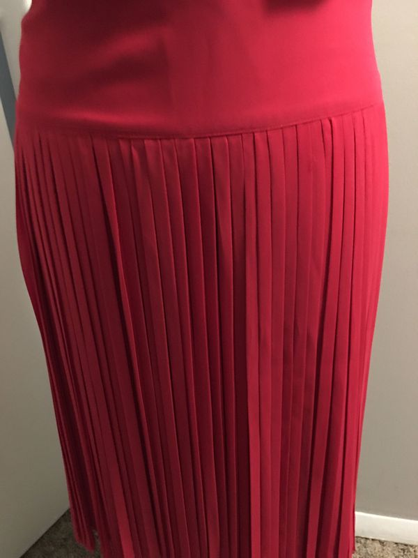Sexy red hot fringe skirt with cami included