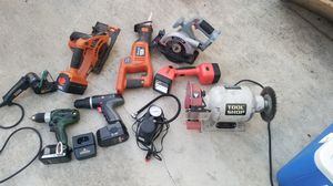 18v hitachi driver drill with battery/charger and much more.. 150 obo will sell individual pieces for Sale in Puyallup, WA