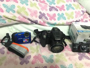 LUMIX Panasonic x60 Zoom perfect condition , Minolta dash cam never used in box , xp waterproof digital camera (negotiable ) for Sale in Blackwood, NJ
