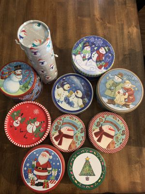 Christmas tins for Sale in Haines City, FL