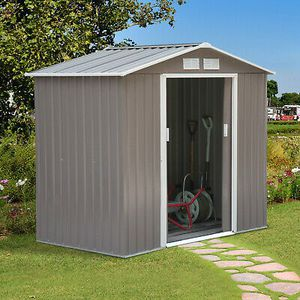 7'x4' Metal Storage Shed All Weather Home Garden Use for Sale in Los Angeles, CA