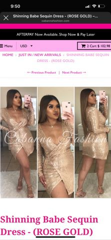 Gold dress size large for Sale in La Puente, CA