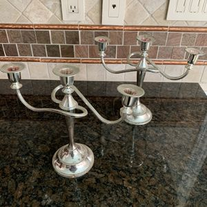 Silver Candle Stick Holders for Sale in Dallas, TX