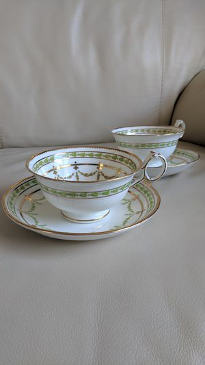 Antique Cauldon China teacups and saucers / fruit desert plates Mother's or Father's day gift. for Sale in Vancouver, WA
