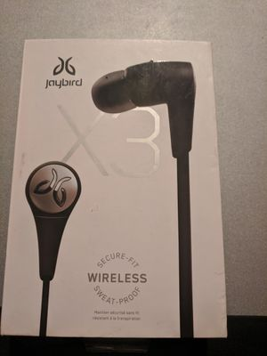 Jaybird x3 Wireless Headphones Active Sport Earbuds by Bluetooth for Sale in Houston, TX