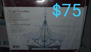 5 light chrome chandelier for Sale in Bakersfield, CA