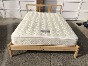 Great full size bed with a clean mattress for Sale in Gresham, OR