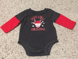 Baby's 1st Christmas Long sleeve onesie for Sale in Peyton, CO