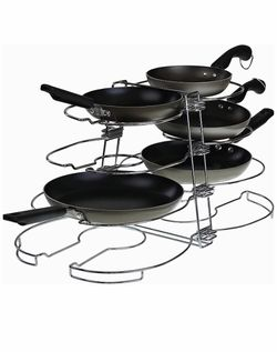 Double Pot & Lid Organizer, Holds up to 8 Pans & Lids with Unique Adjustable Racks for Sale in Quitman,  TX