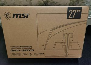 MSI Gaming Monitor Curved 27 inch 1920x1080p 165hz refresh rate FreeSync for Sale in Los Angeles, CA