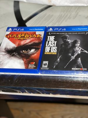 Last of us remastered ps4 and god of warps4 for Sale in Maywood, IL