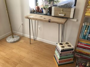 Wood console table with metal legs for Sale in Brooklyn, NY