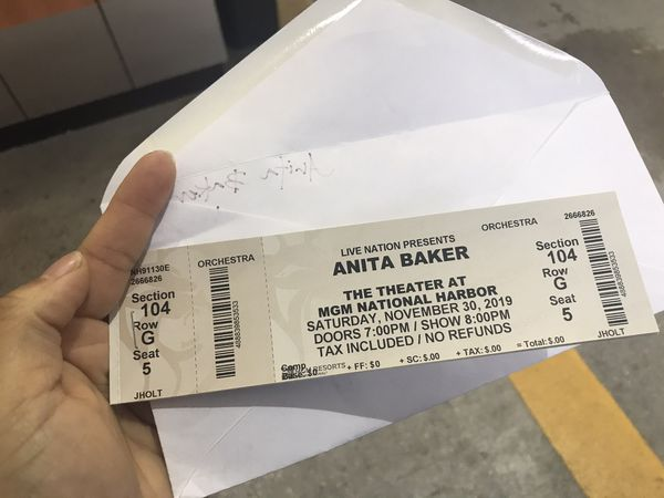 Anita Baker 2 tickets for Sale!!!