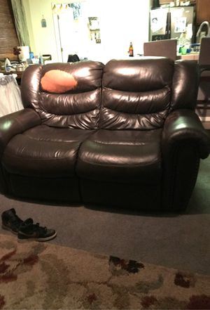 Electric reclining leather sofa for Sale in Tulare, CA
