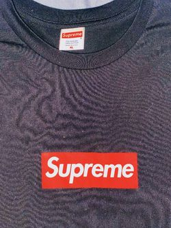 Red On Black Supreme Box Logo Tee for Sale in Gaithersburg,  MD