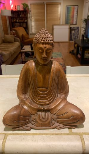 Wooden Buddha sculpture for Sale in Austin, TX