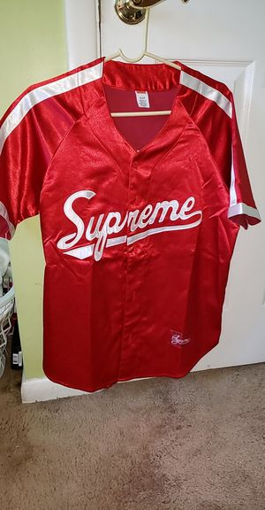 Supreme satin baseball jersey for Sale in Woodbridge, VA