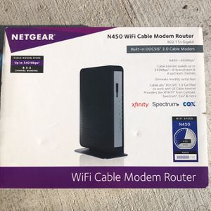 Netgear N450 340 Mbps 4-Port 10/100 Wireless N Router (N450-100NAS) for Sale in Claremont, CA