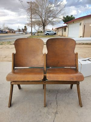 Antique folding theater seat for Sale in Victorville, CA