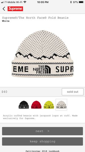Supreme/Northface Beanie w/ order confirmation for Sale in San Dimas, CA