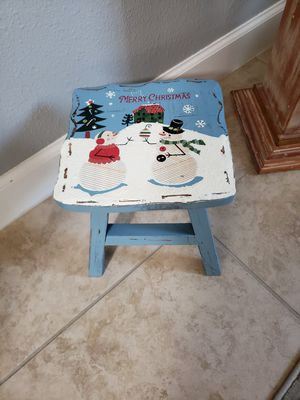 A small Christmas bench with snowmen for Sale in Palm Shores, FL