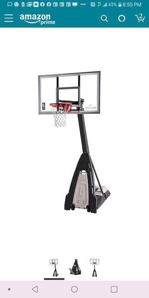 "Spalding ""The Beast"" Portable Basketball Hoop. 60 Inch Glass Backboard. No reasonable offer refused. for Sale in Henderson, NV"