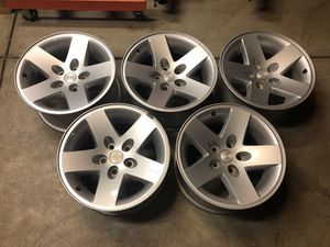 Jeep rubicon oem wheels less than 1500 miles when removed h for Sale in Gonzales, CA