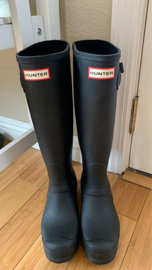 Hunter rain boots with hunter socks for Sale in Ripon, CA