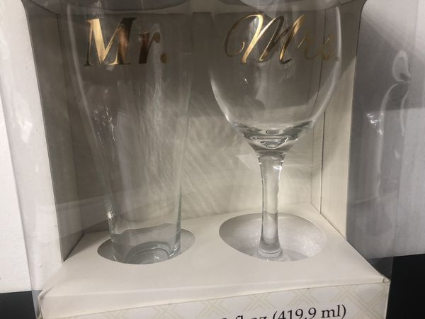 Couple glass set new