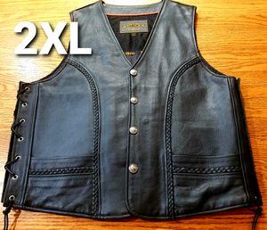 "UNIX Ultra ""NEW"" Leather MC Vest for Sale in El Mirage, AZ"