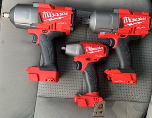Milwaukee M18 FUEL ONE-KEY 18-Volt Lithium-Ion Brushless Cordless 3/8, 1/2 and 3/4 Impact Wrench set w/ Friction rings for Sale in Denver, CO