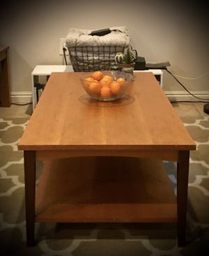 Double shelf Coffee Table (wood) for Sale in South Jordan, UT
